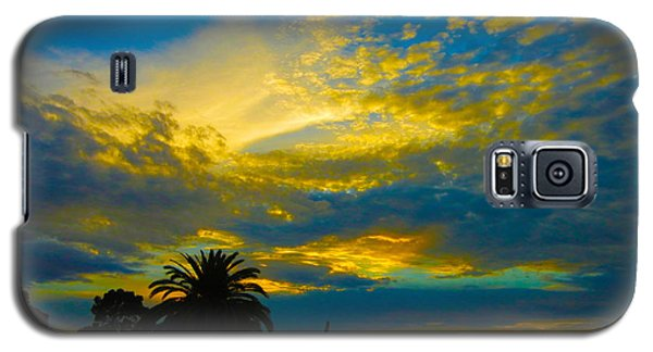 Gold And Blue Sunset Galaxy S5 Case