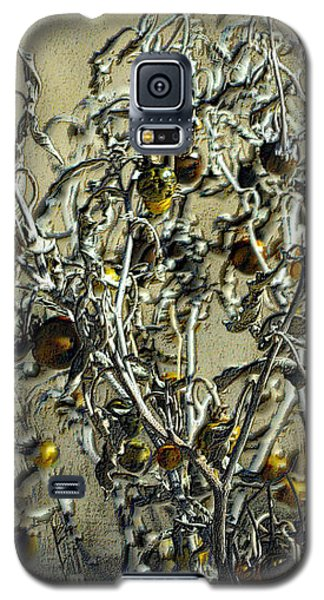 Galaxy S5 Case featuring the photograph Gold And Gray - Silver Nightshade by Nadalyn Larsen