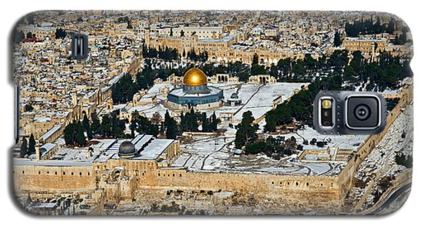 Gold And White In Jerusalem. Galaxy S5 Case