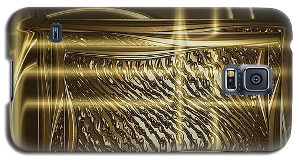 Gold Chrome Abstract Galaxy S5 Case