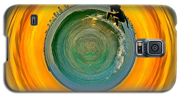 Miami Galaxy S5 Case - Gold Coast Surfer Circagraph by Az Jackson