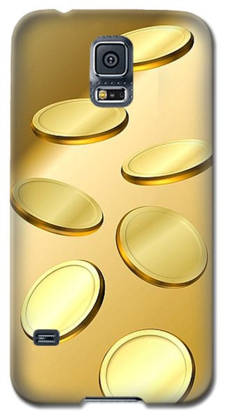 Gold Coins Galaxy S5 Case