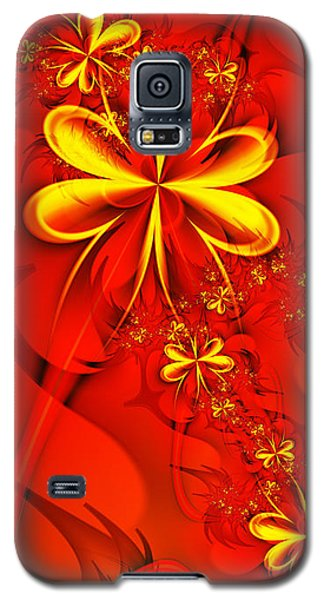 Gold Flowers Galaxy S5 Case