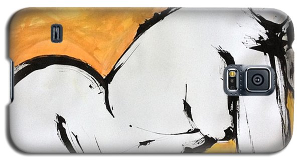 Galaxy S5 Case featuring the drawing Gold by Helen Syron