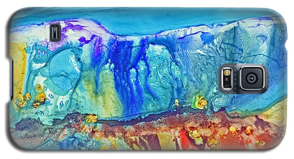 Galaxy S5 Case featuring the painting Gold In The Hills by Joan Hartenstein