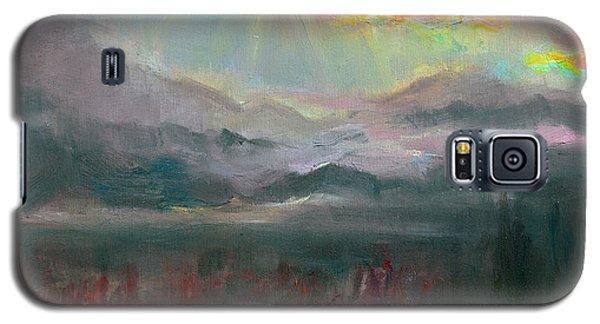 Gold Lining - Chugach Mountain Range En Plein Air Galaxy S5 Case