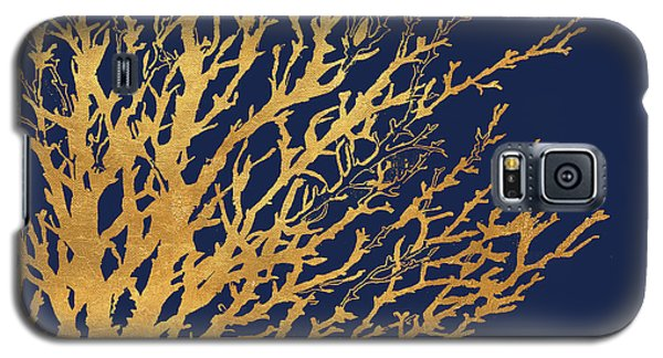 Gold Medley On Navy Galaxy S5 Case by Lanie Loreth