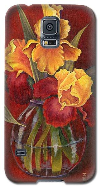 Gold N Red Iris Galaxy S5 Case