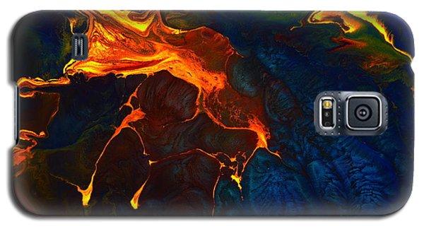 Gold Signature - Gold Orange Abstract Art By Kredart Galaxy S5 Case