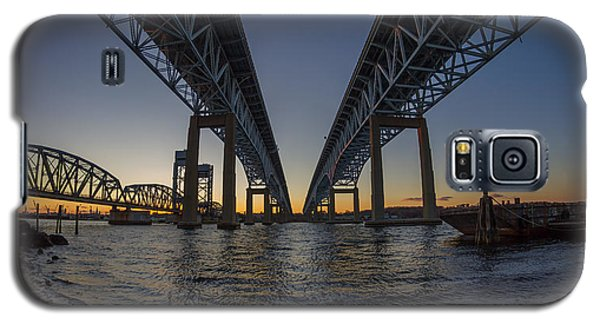 Gold Star Bridge Simple Sunset  Galaxy S5 Case