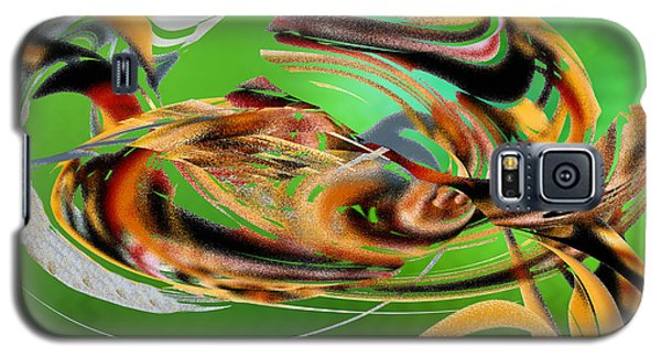 Galaxy S5 Case featuring the digital art Gold Under The Sea by rd Erickson