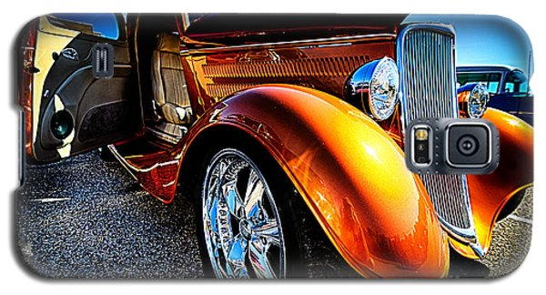 Gold Vintage Car At Car Show Galaxy S5 Case by Danny Hooks