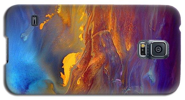 Gold Waterfall - Liquid Gold Abstract Art By Kredart Galaxy S5 Case