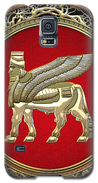 Golden Babylonian Winged Bull  Galaxy S5 Case