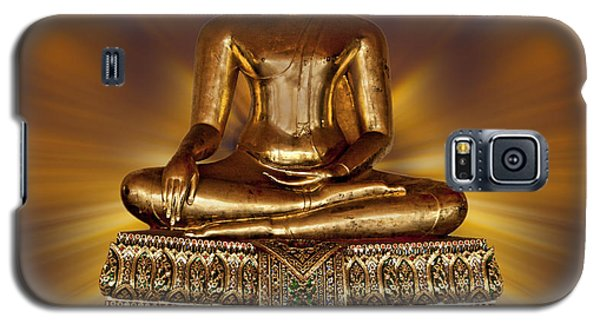 Galaxy S5 Case featuring the photograph Golden Buddha by Shirley Mangini