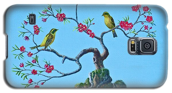 Golden Bush Robins In Old Plum Tree Galaxy S5 Case