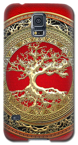 Golden Celtic Tree Of Life  Galaxy S5 Case by Serge Averbukh