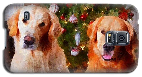 Golden Christmas Galaxy S5 Case