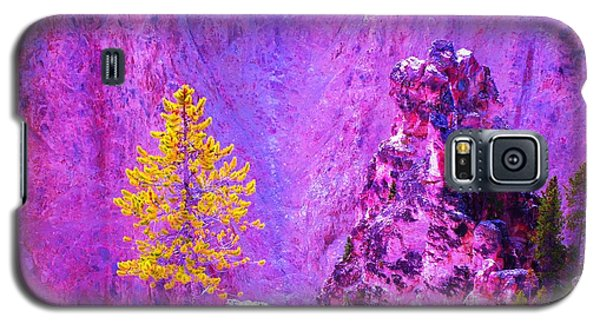 Golden Christmas In Yellowstone Galaxy S5 Case by Ann Johndro-Collins
