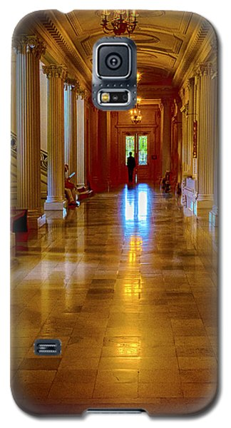 Galaxy S5 Case featuring the photograph Golden Corridor by Joseph Hollingsworth