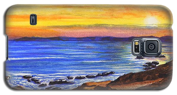 Galaxy S5 Case featuring the painting Golden Cove by Darren Robinson