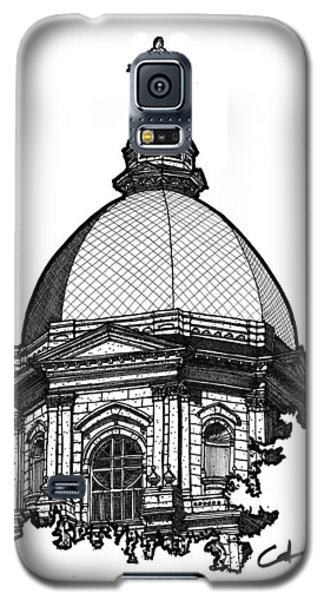 Galaxy S5 Case featuring the drawing Golden Dome by Calvin Durham