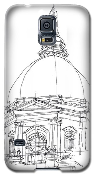 Galaxy S5 Case featuring the drawing Golden Dome Sketch by Calvin Durham
