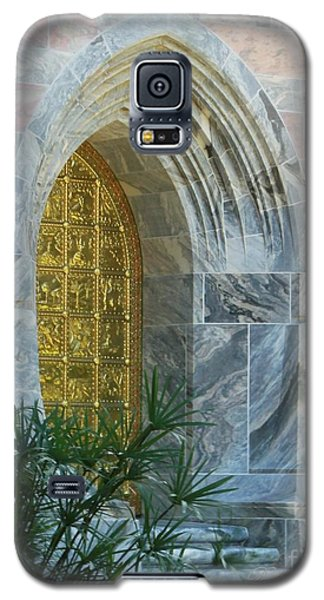 Galaxy S5 Case featuring the photograph Golden Door by Dodie Ulery