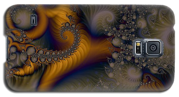 Galaxy S5 Case featuring the digital art Golden Dream Of Fossils by Elizabeth McTaggart