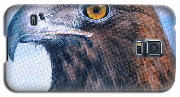Galaxy S5 Case featuring the painting Golden Eagle by Sandra Phryce-Jones