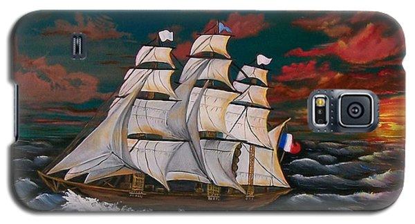 Golden Era Of Sail Galaxy S5 Case by Sharon Duguay