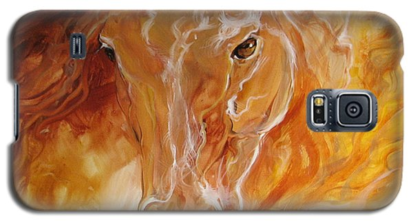 Golden Essence Equine Galaxy S5 Case