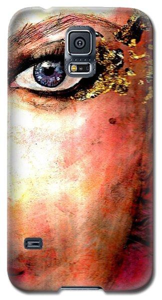 Golden Eyes Galaxy S5 Case by P J Lewis