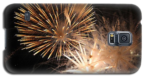 Golden Fireworks Galaxy S5 Case by Rowana Ray