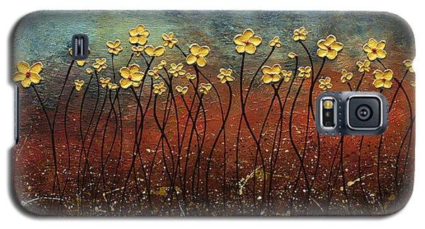 Golden Flowers Galaxy S5 Case