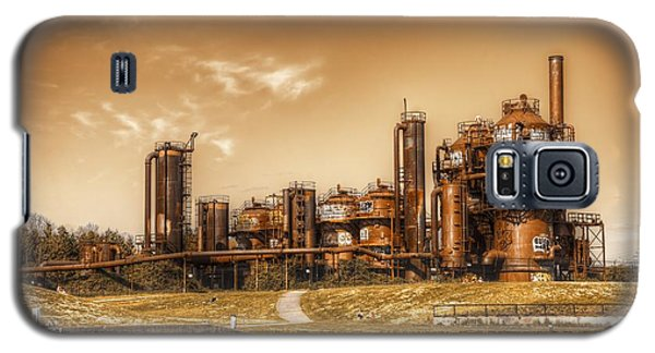 Golden Gas Works Galaxy S5 Case by Spencer McDonald