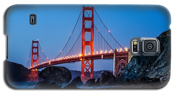 Golden Gate At Twilight Galaxy S5 Case by Linda Villers