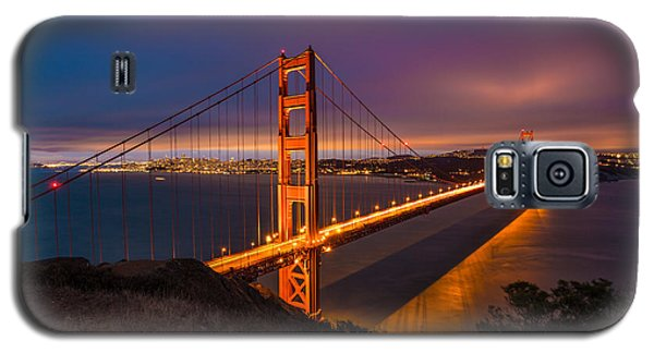 Golden Gate At Twilight Galaxy S5 Case by Mike Lee