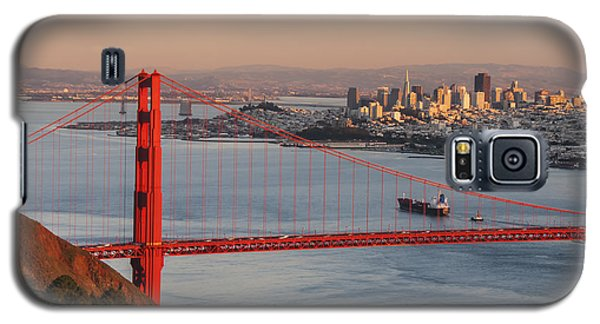 Galaxy S5 Case featuring the photograph Golden Gate Bridge And San Francisco 1 by Lee Kirchhevel