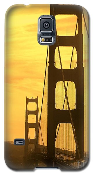 Galaxy S5 Case featuring the photograph Golden Gate Bridge  by Clare Bevan