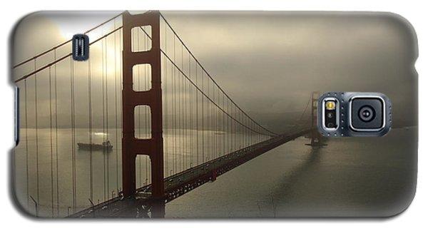 Galaxy S5 Case featuring the photograph Golden Gate Bridge Fog Lifting by Scott Rackers