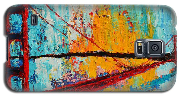 Golden Gate Bridge Modern Impressionistic Landscape Painting Palette Knife Work Galaxy S5 Case
