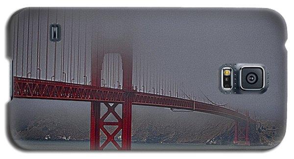 Galaxy S5 Case featuring the photograph Golden Gate Bridge In Fog ... by Chuck Caramella