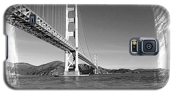 Galaxy S5 Case featuring the photograph Golden Gate Bridge by Kathy Churchman