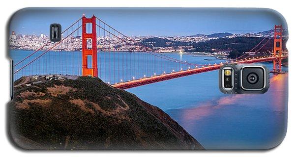 Galaxy S5 Case featuring the photograph Golden Gate Bridge by Mihai Andritoiu