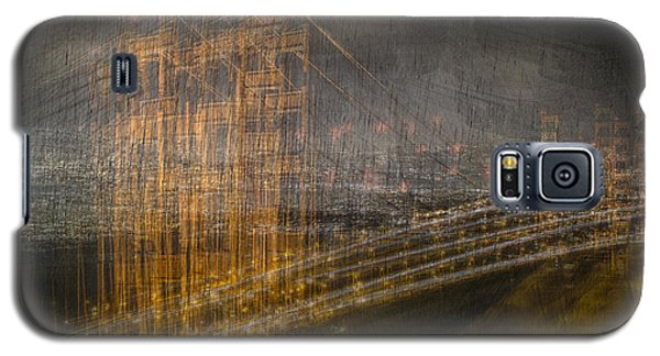 Golden Gate Chaos Galaxy S5 Case by Linda Villers