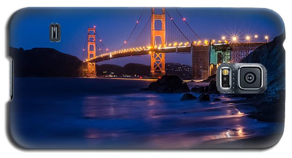 Golden Gate Glow Galaxy S5 Case by Linda Villers
