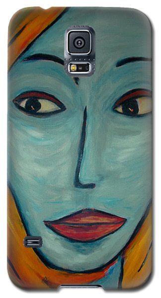 Galaxy S5 Case featuring the painting Golden Girl by Zeke Nord