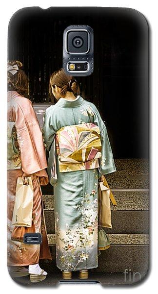 Golden Glow - Japanese Women Wearing Beautiful Kimono Galaxy S5 Case