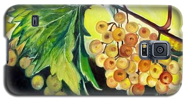 Galaxy S5 Case featuring the painting Golden Grapes by Julie Brugh Riffey